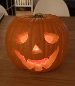 lichtje halloween pompoen