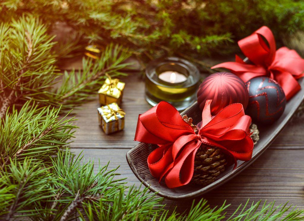 versiering kerststukje