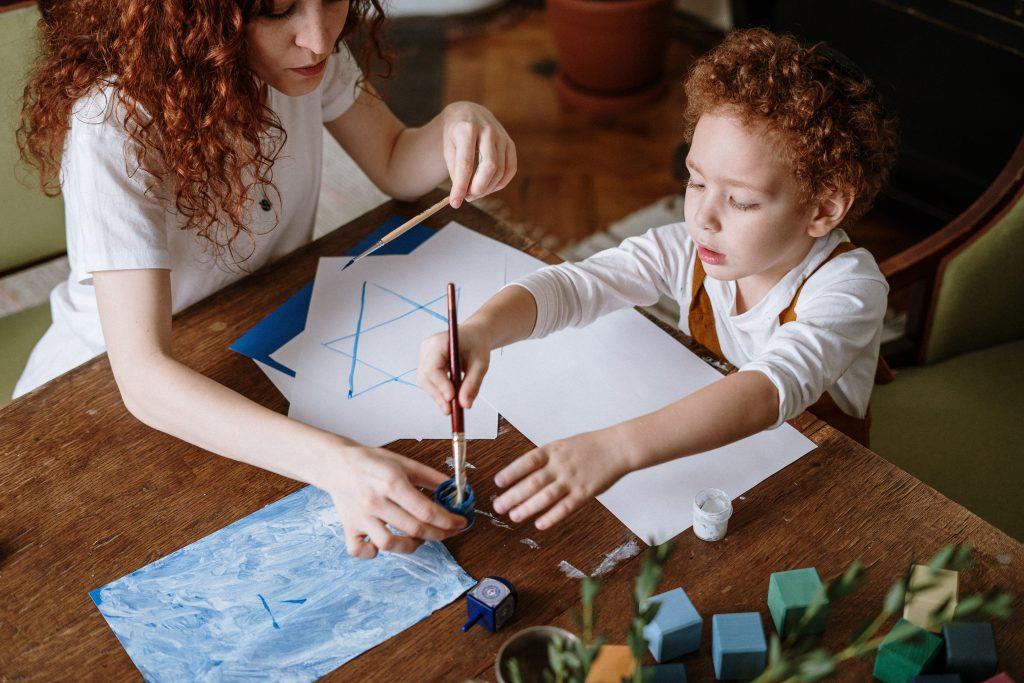 schilderen met peuters